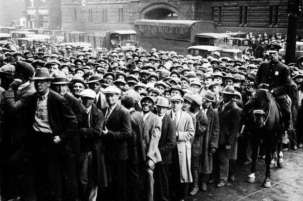 Великая депрессия, безработные