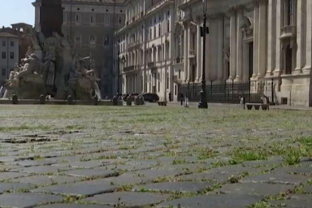 На центральной площади Рима